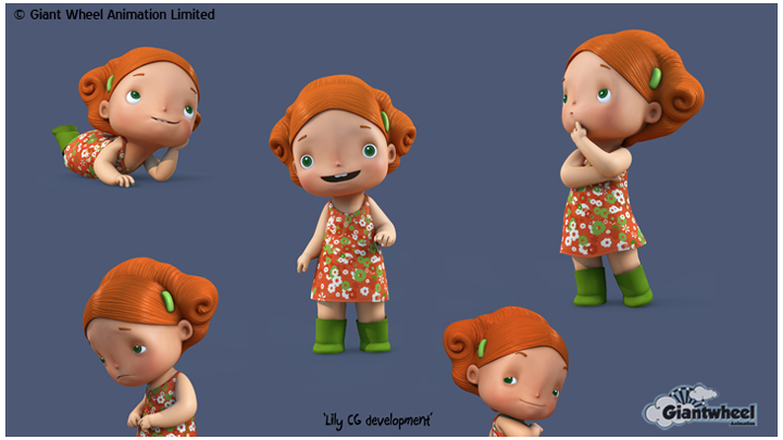 CGI development of 'Lily' from our in-house development