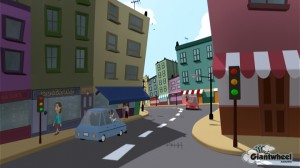 CGI cartoon environment developed for an in-house project