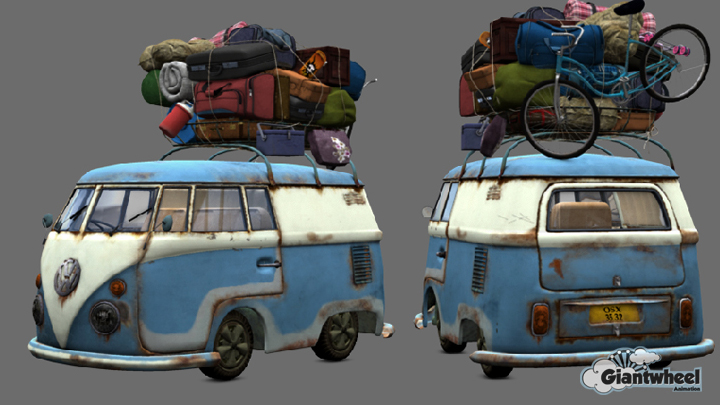 CGI Volkswagen Camper to demonstrate our texturing skills